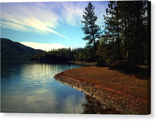 Water Skis Canvas Print - Scenic Whiskeytown Lake by Joyce Dickens