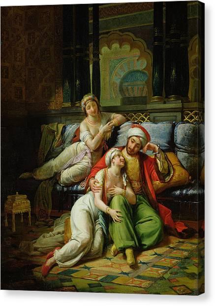 Muslim Canvas Print - Scheherazade by Paul Emile Detouche