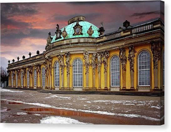 Rococo Art Canvas Print - Schloss Sanssouci Potsdam  by Carol Japp