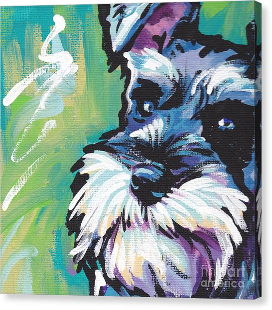 Salt Canvas Print - Schnauzer  by Lea S