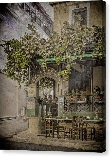 Canvas Print featuring the photograph Athens, Greece - Scholarcheion by Mark Forte
