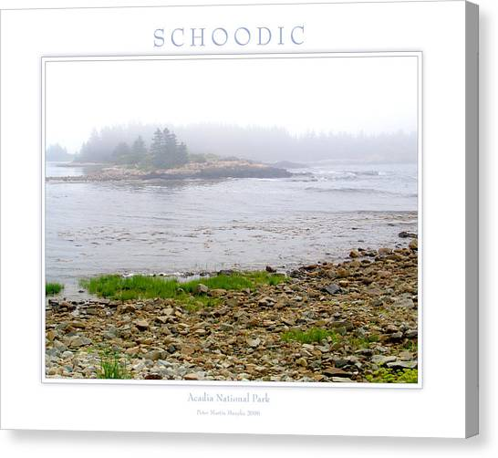 Schoodic Canvas Print by Peter Muzyka