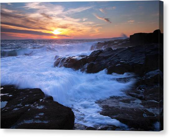 Schoodic Seas Canvas Print