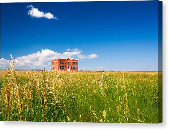 Abandoned School Canvas Print - School Abandoned by Todd Klassy