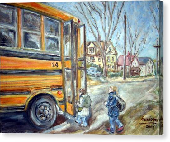 School Bus Canvas Print by Joseph Sandora Jr