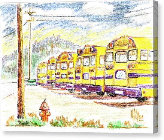 School Bussiness Canvas Print