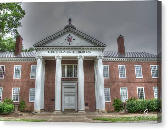 University Of Louisville Canvas Print - School Of Law University Of Louisville Ky II by Gina Munger