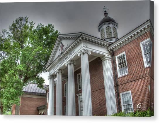 University Of Louisville Canvas Print - School Of Law University Of Louisville Ky IIi by Gina Munger