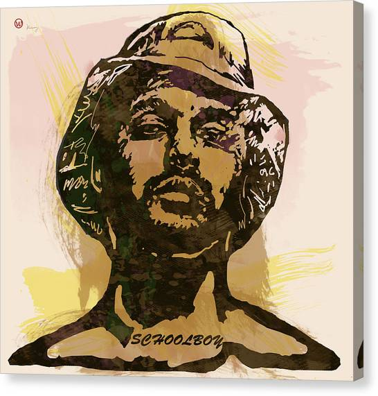 Independent Canvas Print - Schoolboy Q Pop Stylised Art Sketch Poster by Kim Wang