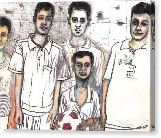 Schoolyard Chums Canvas Print