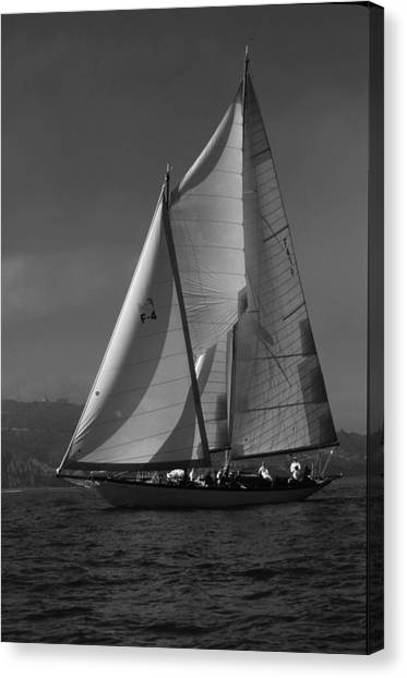 Schooner In Bay 2 Canvas Print