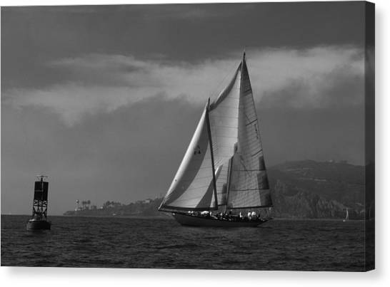 Schooner Off Point Loma Canvas Print