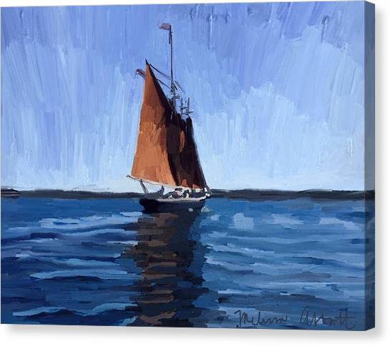 Harbors Canvas Print - Schooner Roseway In Gloucester Harbor by Melissa Abbott