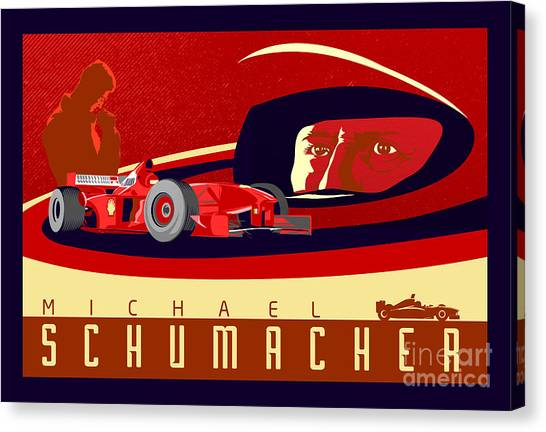 Formula 1 Canvas Print - Schumacher  by Sassan Filsoof