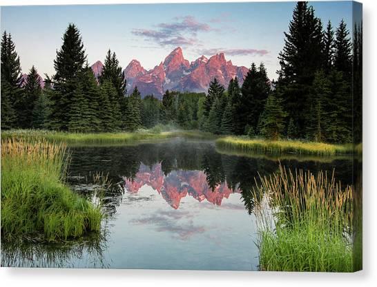 Schwabacher Landing Sunrise Canvas Print