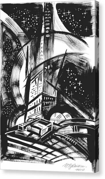 Sci Fi City Canvas Print