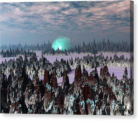 Sci Fi Landscape Canvas Print