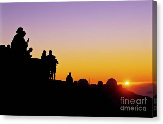University Of Hawaii Canvas Print - Science City Sunset II by Jim Cazel