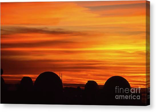 University Of Hawaii Canvas Print - Science City Sunset by Jim Cazel