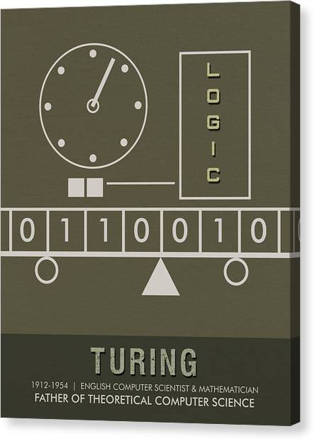 Computer Science Canvas Print - Science Posters - Alan Turing - Mathematician, Computer Scientist by Studio Grafiikka