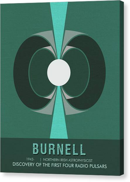 Pulsar Canvas Print - Science Posters - Jocelyn Bell Burnell - Irish Astrophysicist by Studio Grafiikka