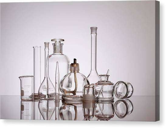 Medicine Canvas Print - Scientific Glassware by Tom Mc Nemar