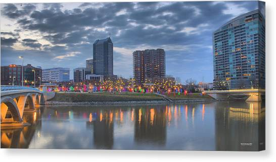 Canvas Print featuring the photograph Scioto Morning 3567 by Brian Gryphon