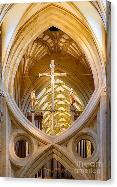 Scissor Arches, Wells Cathedral Canvas Print