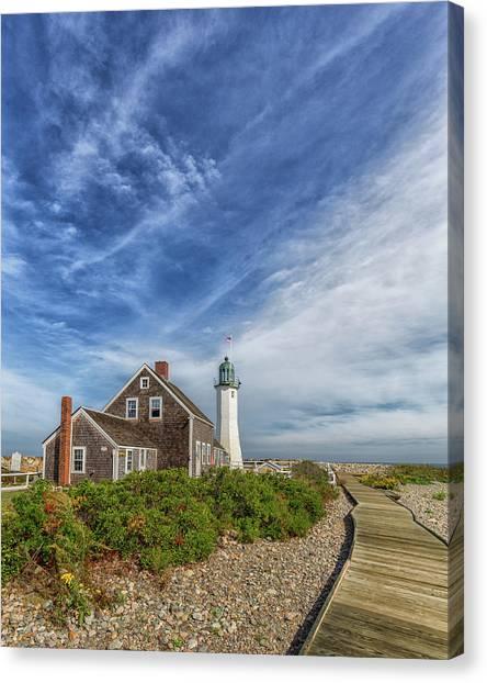 Scituate Lighthouse Boardwalk Canvas Print