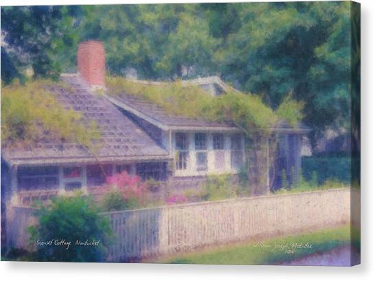 Sconset Cottage #3 Canvas Print