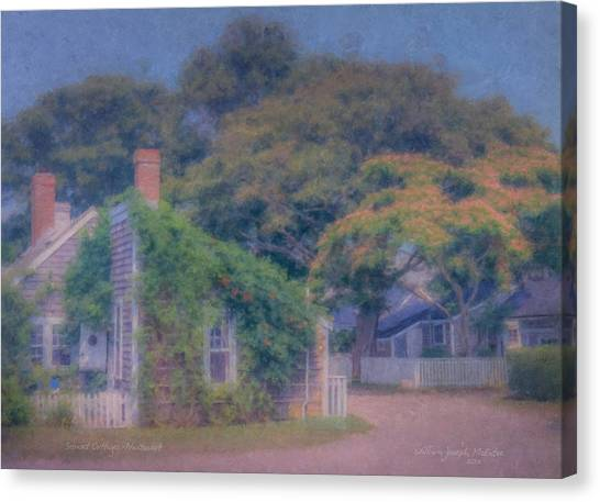 Sconset Cottages Nantucket Canvas Print