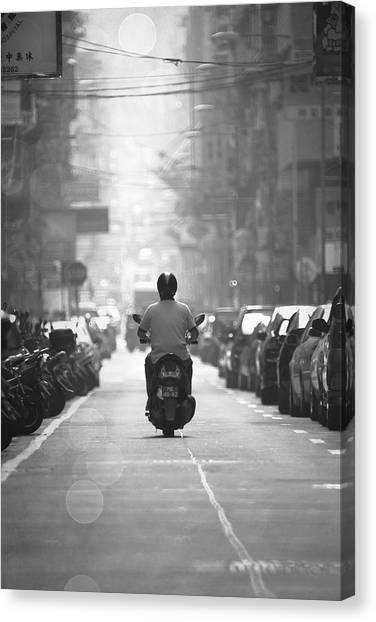 Scooter Canvas Print by Kam Chuen Dung
