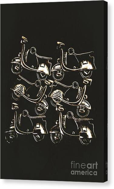 Scoot Canvas Print - Scooters Of Pop Culture by Jorgo Photography - Wall Art Gallery