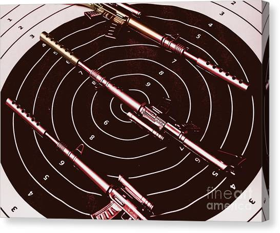 Rifles Canvas Print - Scopes Of Military Precision  by Jorgo Photography - Wall Art Gallery