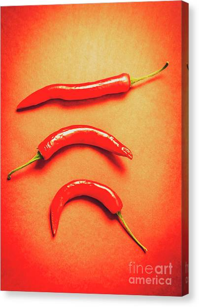 Condiments Canvas Print - Scorching Food Background by Jorgo Photography - Wall Art Gallery
