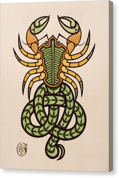 Knotwork Canvas Print - Scorpio by Ian Herriott