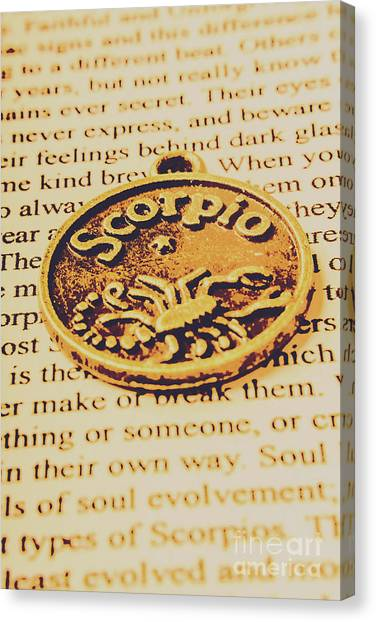 Constellations Canvas Print - Scorpio Star Sign Token by Jorgo Photography - Wall Art Gallery