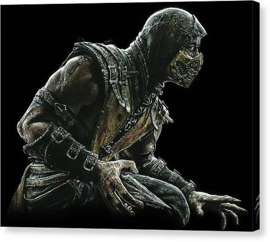 Mortal Kombat Canvas Print - Scorpion by Daniel Ayala