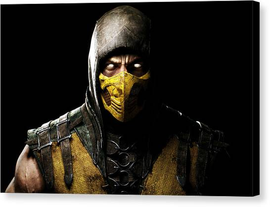 Mortal Kombat Canvas Print - Scorpion by James