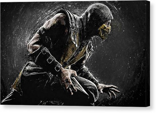 Xbox Canvas Print - Scorpion - Mortal Kombat by Taylan Soyturk