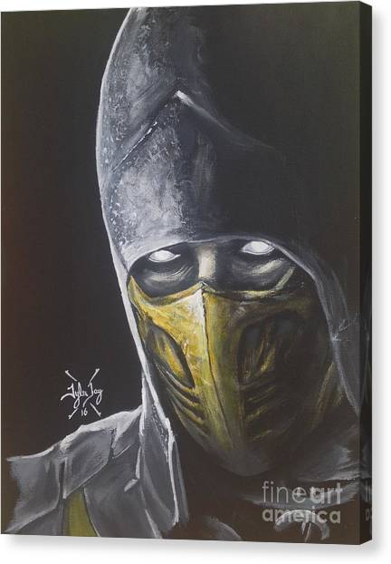 Mortal Kombat Canvas Print - Scorpion by Tyler Haddox
