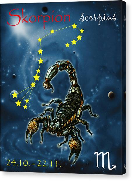 Canvas Print - Scorpius And The Stars by Johannes Margreiter