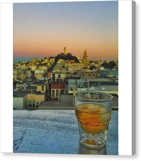 Scotch Canvas Print - Scotch Whiskey And A View by Joanna S
