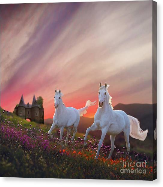 Canvas Print featuring the digital art Scotland Fantasy by Melinda Hughes-Berland