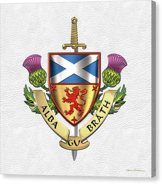 Scottish Flag Canvas Prints Page 3 Of 6 Fine Art America