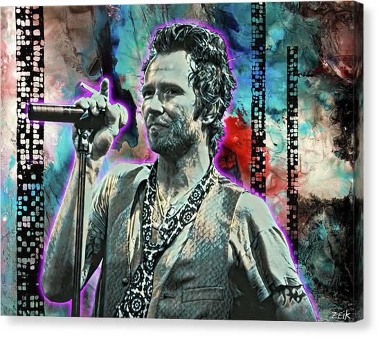 Stone Temple Pilots Canvas Print - Scott Weiland - Silvergun Superman by Bobby Zeik