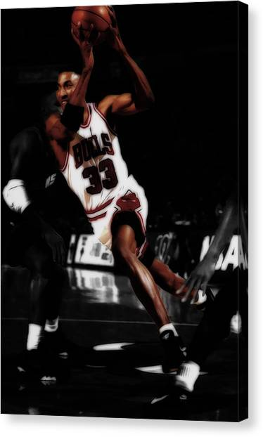 Russell Westbrook Canvas Print - Scottie Pippen On The Move by Brian Reaves