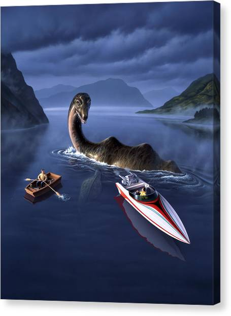 Prehistoric Canvas Print - Scottish Cuisine by Jerry LoFaro