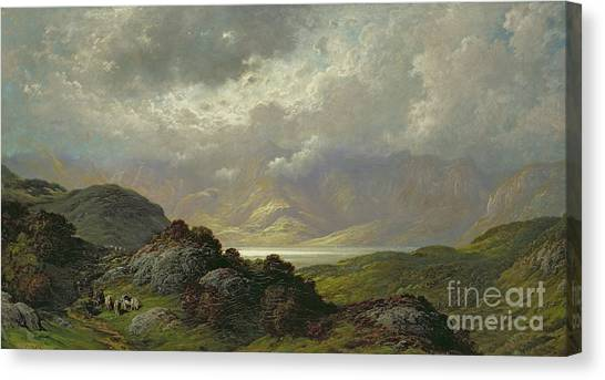 Heather Canvas Print - Scottish Landscape by Gustave Dore