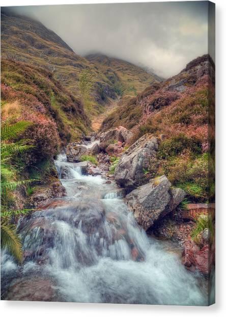 Scottish Mountain Stream Canvas Print